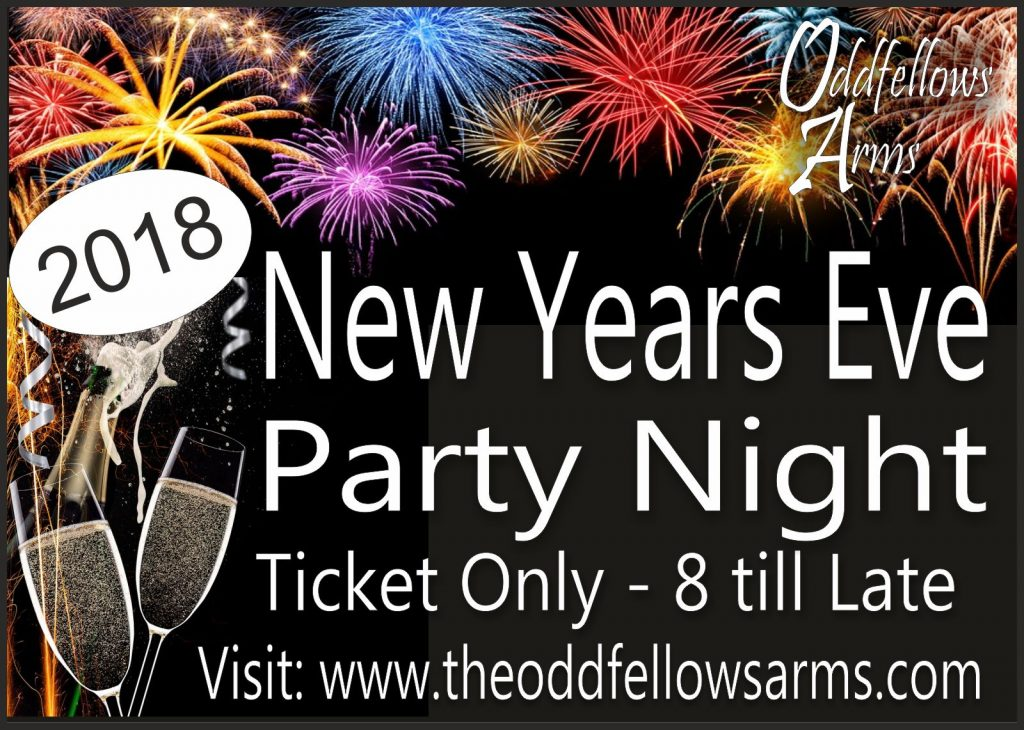 New Years Eve at The Oddfellows Arms Smokehouse Chelmsford